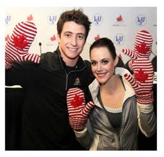 OLYMPIC COLLECTION | Support our Olympic Athletes. Scott Moir and Tessa Virtue are seen here, sporting their new Olympic STRIPED mittens.