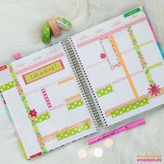 """""""I must be ready for spring. ☀ Here's my weekly layout for my @erincondren life planner. #mychicplanner"""""""