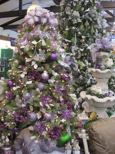 Christmas Tree From the Purple, Purple, Purple Theme at Your Christmas Shop at Stauffers of Kissel Hill Garden Centers. (http://www.skh.com/home-garden/departments-2/the-christmas-shop/)