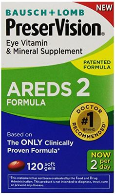 PreserVision AREDS 2 Vitamin & Mineral Supplement 120 Count Soft Gels //Price: $25.87 & FREE Shipping //     #hashtag1