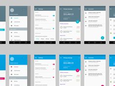Material Design UI for finance app