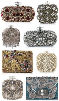 Marchesa Evening Bags- ❤️❤️❤️❤️❤️❤️ her clutches one can dream Vintage Purses, Vintage Bags, Vintage Handbags, Beaded Purses, Beaded Bags, Beaded Clutch, Beautiful Bags, Clutch Purse, Evening Bags