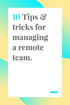 Managing any kind of team can certainly have its challenges. Check out these tips to keep your team organized and focused. #remote #remoteteams #manageteamswell