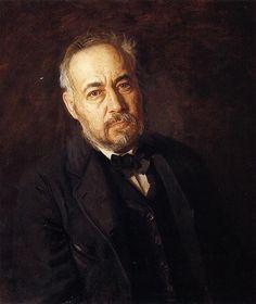 """""""Thomas Cowperthwait Eakins"""". Auto-Retrato. Pintor estadunidense, Escultor e Fotógrafo. (25/Julho/1844 - 25/Junho/1916)."""