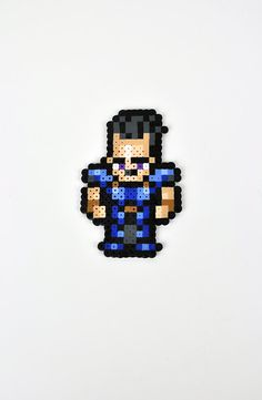 Cyan from Final Fantasy VI Magnet Perler Bead by TheCraftyChimera, $9.99