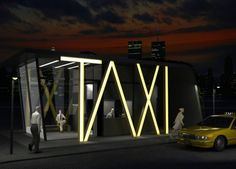 Taxi Station by Hakan Gürsu