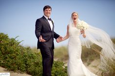 the happy couple - white bridal bouquet by Soiree Floral - photo by Sarah DiCicco