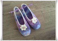 pantofole semplicissime a uncinetto