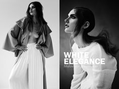 Love the hair in the right pic - White Elegance in Institute mag