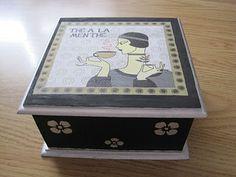 Páginas de cor da Luna: Tea box 1 - front
