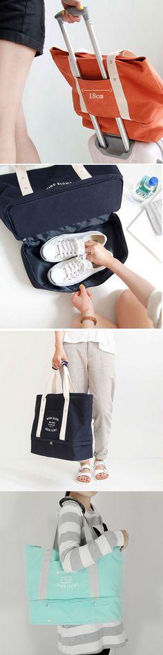 US$17.99 Multifuctional Large Travel Bag Waterproof Cloth Shoes Handbag Portable Storage Bag
