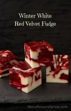 Say I love you with Winter White Red Velvet Fudge - you'll get lots of love back!! :)