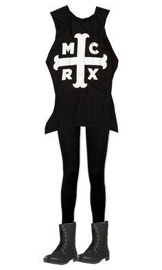 """""""MCR lives!!!"""" by rmstar01 ❤ liked on Polyvore featuring Paige Denim"""