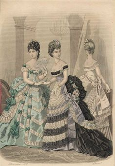 Ruffles- why do you tempt me so?! Early 1870s