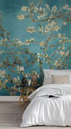 Amazing Our Van Gogh Wallpaper almond branches are a illustration of one of many . Our Van Gogh Wallpaper almond branches. Luxury Wallpaper, Home Wallpaper, Designer Wallpaper, Wallpaper Murals, Wallpaper Ideas, Bedroom With Wallpaper, Chinoiserie Wallpaper, Beautiful Wallpaper, Bedroom Wallpaper Cherry Blossom