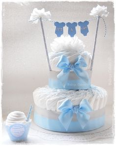 Gâteau de couches Babys Cakes - It's a boy diaper cake