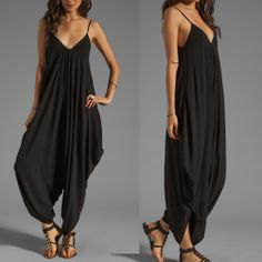Shop Kami Shade' - Blousy Chic Black Harem Style Sleeveless Jumpsuit, $138.00 (http://www.kamishade.com/pantsuits-rompers/blousy-chic-black-harem-style-sleeveless-jumpsuit/)