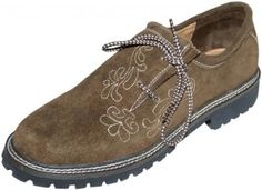 Leather German Embroidered Oktoberfest Lederhosen Haferl Shoe Brown
