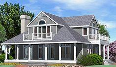 Shingle Cottage Balcony Option - Southern Cottages House Plans - Architect Michael R. McLeod