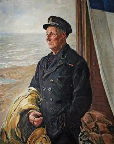 Henry Blogg (1876–1954), Coxswain of the Cromer Lifeboat Henry Blogg (1876–1954), Coxswain of the Cromer Lifeboat by Thomas Cantrell Dugdal, 1943