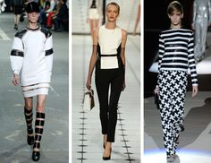 Another upcoming trend that you can see coming is the trend of designers putting emphasis on black and white looks. Black and white are classic neutral colors so they will always be in style but designers are making sleek, simple garments that can be worn year-round and the way the colors are put together is very structured and modern. Jasmine B.