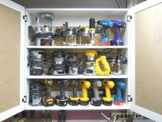 Power Hand Tool Cabinet - by Bricofleur @ LumberJocks.com ~ woodworking community