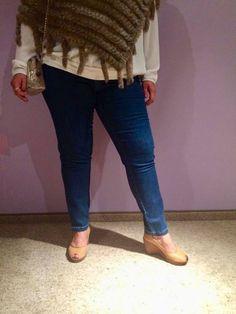 Spodnie z jeansu Cevlar BJB 05 kolor granatowy - Big Sister