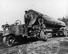 logging trucks | Eatonville to Rainier » Three-Wheel Logging Truck