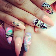 Pastel tribal goddess -dope nail design ideas- nails swag obsession - nail porn addiction