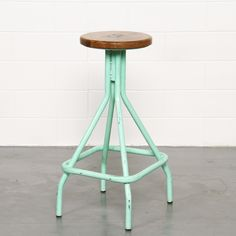 Fogerty Industrial Stool - Mint Green