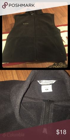Columbia black fleece zip up vest, Men's XL Columbia black fleece zip up vest, Men's XL Columbia Jackets & Coats Vests