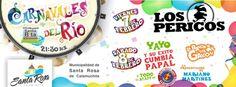 """""""Carnavales del Río 2014"""". Viernes 07 y sábado 08 de febrero, 21.30 hs., balneario Santa Rita, Santa Rosa de Calamuchita. Invita: Municipalidad de Santa Rosa de Calamuchita."""
