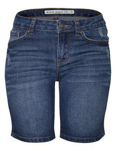 Cielo Denim Denim Bermuda Shorts Medium Blue 017