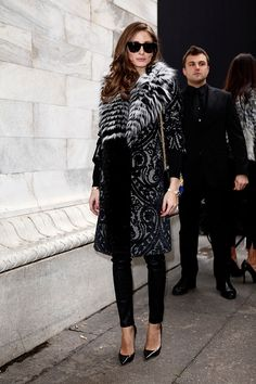 Street style moda en la calle tendencias fur   Street style de Milán