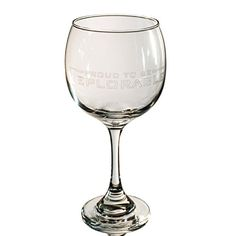 20oz Proud to be Deplorable Wine Glass L1