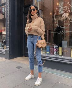44 Comfy Fall Outfits Style On The Street - Artbrid - Outfits Otoño, Sunday Outfits, Casual Outfits, Fashion Outfits, Womens Fashion, Casual Sunday Outfit, Classic Outfits, Cheap Fashion, Comfy Fall Outfits