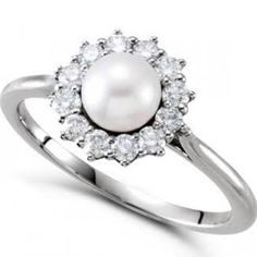 pearl engagement rings - Google Search