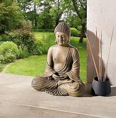 Buddha-Dekofigur-Thailand-Statue-Feng-Shui-Asia-Buddhismus-Dekoration