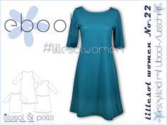lillesol women No.22 Jerseykleid mit Uboot-Ausschnitt in den Größen 34 - 50; Schnittmuster als pdf-Datei; Download nach Zahlungseingang