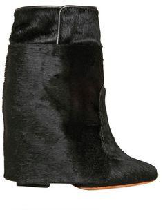 GIVENCHY PARIS 110mm Ponyskin Pointy Low Boots