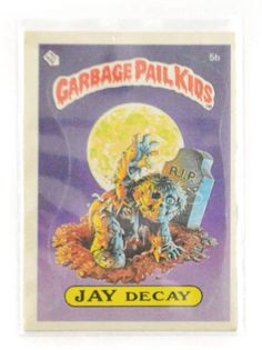 Vintage 80s Garbage Pail Kids Jay Decay Series 1 5b Trading Sticker Card by Dopedoll on Etsy https://www.etsy.com/listing/260914001/vintage-80s-garbage-pail-kids-jay-decay
