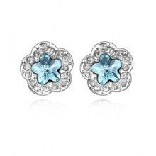Wholesale Fashion High Quality Alloy And Crystal With Platinum Plated Earrings