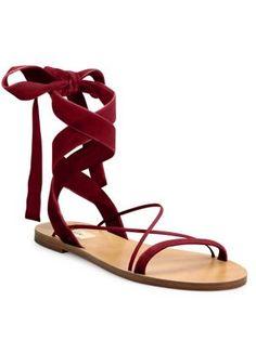 d0133101b1b694 VALENTINO Velvet Ankle-Wrap Sandals.  valentino  shoes  sandals Wrap Shoes
