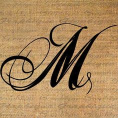 Monogram Initial Letter M Digital Collage Sheet door Graphique M Letter, Initial Letters, Alphabet Latin, Letras Cool, Schrift Tattoos, M Tattoos, Lettering Styles, Lettering Tattoo, Font Styles