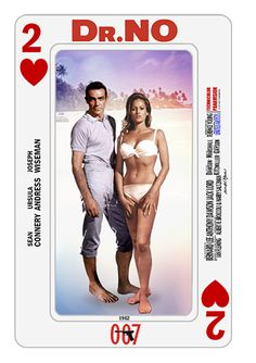 James Bond Playing Cards - series collage by PMitchell #drno #seanconnery #ursulaandress #007 #jamesbond