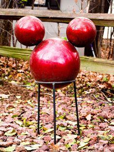 Mickey Mouse Inspired Garden Gazing Ball