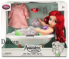 """This is a better look of the new Disney """"Animators Collection"""" Ariel Deluxe Bathtub Gift Set. Baby Doll Nursery, Baby Girl Toys, Toys For Girls, Kids Toys, Disney Descendants Dolls, Disney Animator Doll, Disney Dolls, Ariel Disney, Disney Princess Babies"""