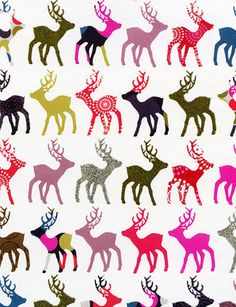 Holiday Gift Wrap Sheet, Patterned Reindeer - what is it about this?  I'm in love!