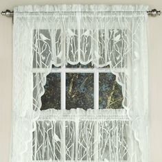 Found It At Wayfair   Knit Lace Song Bird Motif Kitchen Curtains