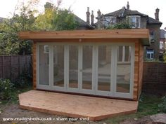 Most current No Cost backyard shed office Ideas With all the household repair and also DIY jobs you do, you can definitely find oneself running out of living . Garden Office Shed, Backyard Office, Outdoor Office, Backyard Studio, Backyard Sheds, Garden Studio, Backyard Retreat, Outdoor Sheds, Outdoor Living